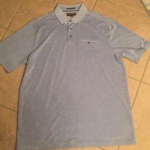 Johnston & Murphy blue collared polo shirt